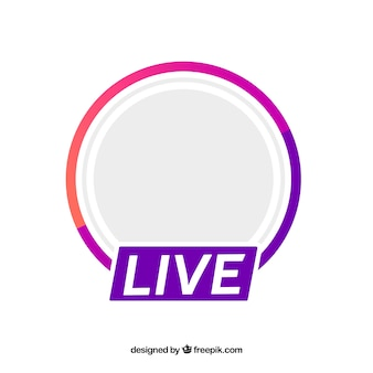 Modern live streaming-pictogram met plat ontwerp
