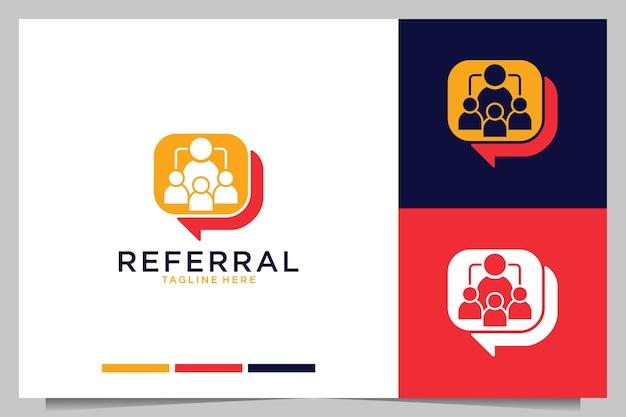 Modern logo-ontwerp van verwijzingsbedrijf