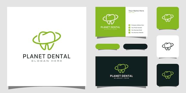 Modern logo van een tandheelkundige kliniek en visitekaartjeontwerp