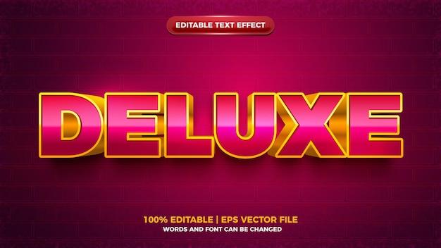 Modern luxe 3d vet bewerkbaar teksteffect