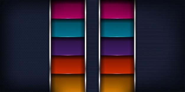 Modern luxueus van dynamische samenvatting met futuristisch ontwerp en 3d stijlachtergrond