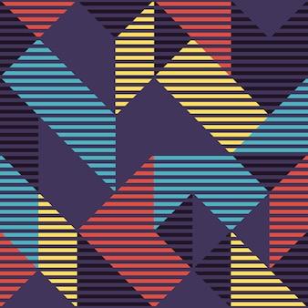 Modern manier abstract geometrisch naadloos patroon.