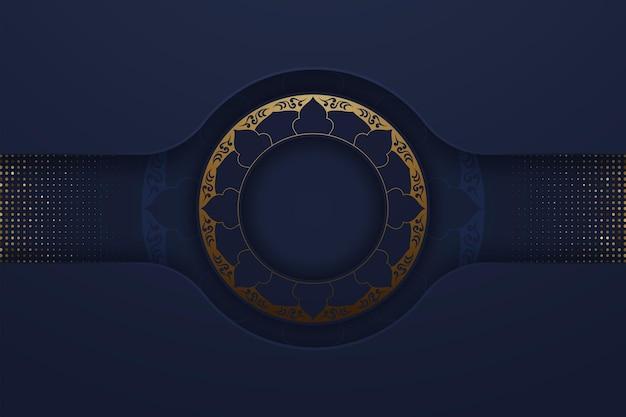 Modern marineblauw met abstracte stijl
