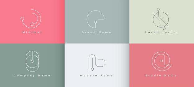 Modern minimaal logo conceptontwerp
