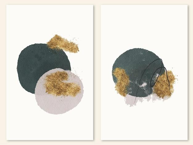 Modern minimalistisch aquarelkunstwerk voor wanddecoratie, modebehang, briefkaart