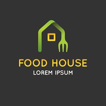 Modern minimalistisch logo van voedselillustratie