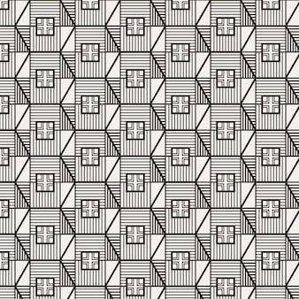 Modern minimalistisch traditioneel koreaans patroonontwerp