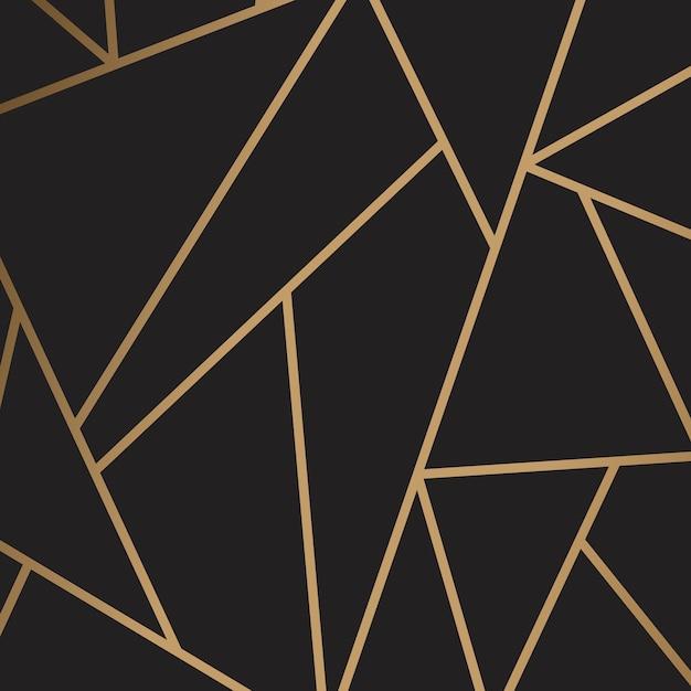 Modern mozaïekbehang in zwart en goud