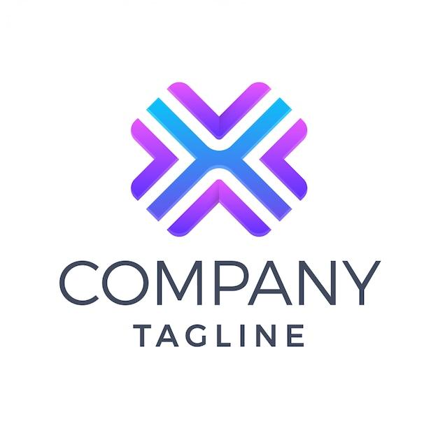 Modern multicolor kleurverloop letter x logo