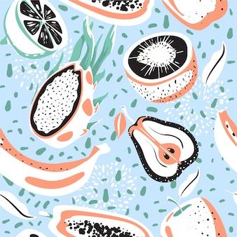 Modern naadloos tropisch patroon.