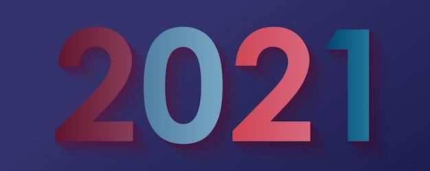 Modern nummer 2021 nieuwjaar