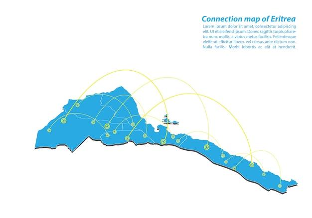 Modern of eritrea kaartverbindingen netwerkontwerp