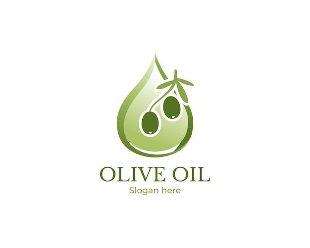 Modern olijfolie-logo