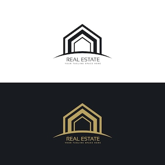 Modern onroerend goed bedrijf logo design concept