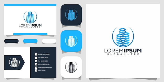 Modern onroerend goed logo-ontwerp