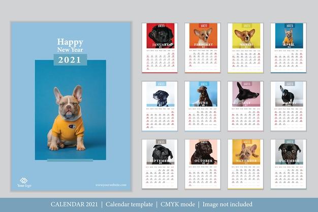 Modern ontwerp 2021 kalendersjabloon