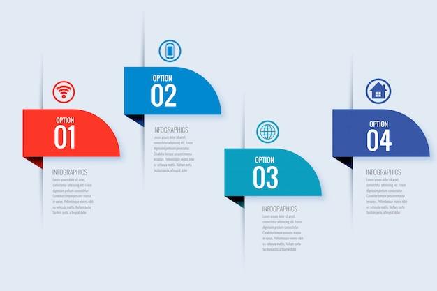 Modern ontwerp van de bedrijfsinfographic-banner