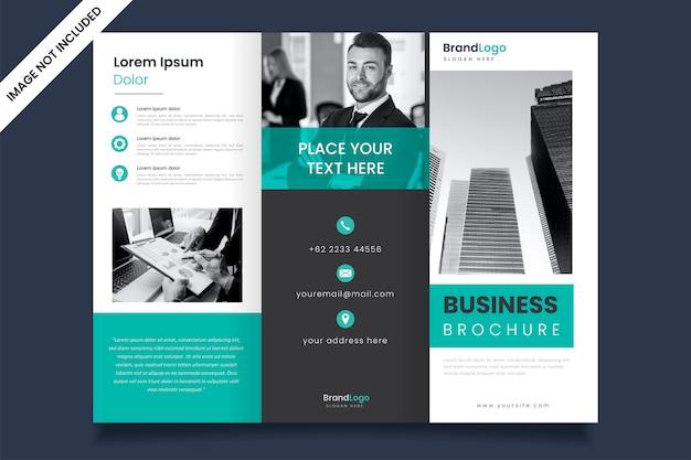 Modern ontwerp van drievoudige bedrijfsbrochuremalplaatje