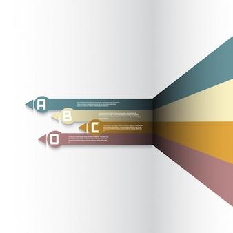 Modern ontwerp voor infographics opties achtergrond