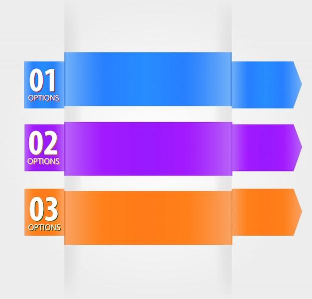 Modern ontwerpsjabloon met genummerde banners