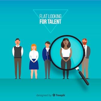 Modern op zoek naar talentconcept