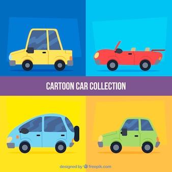 Modern pak schattige auto's