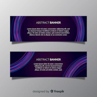 Modern pak van abstracte banners met platte ontwerp