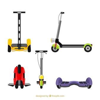 Modern pakket met elektrische scooters