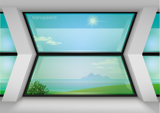 Modern panoramisch raam van het hotel