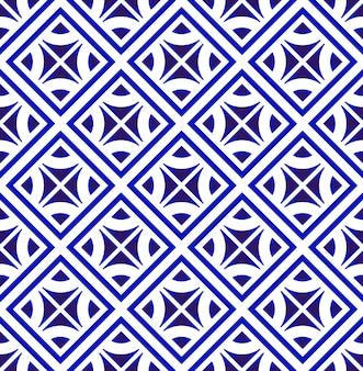 Modern patroon blauw en wit