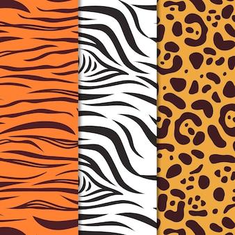 Modern patroon met dierenprint