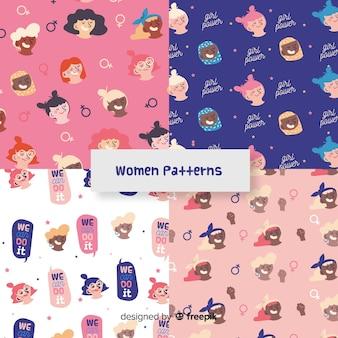 Modern patroon van internationale groep vrouwen