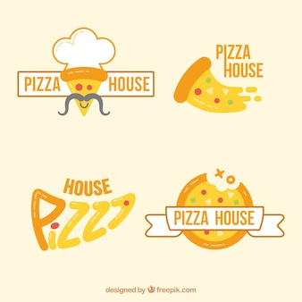 Modern pizzeria logos