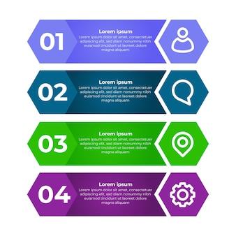 Modern plat infographic ontwerp. vier stappen infographic ontwerpsjabloon.