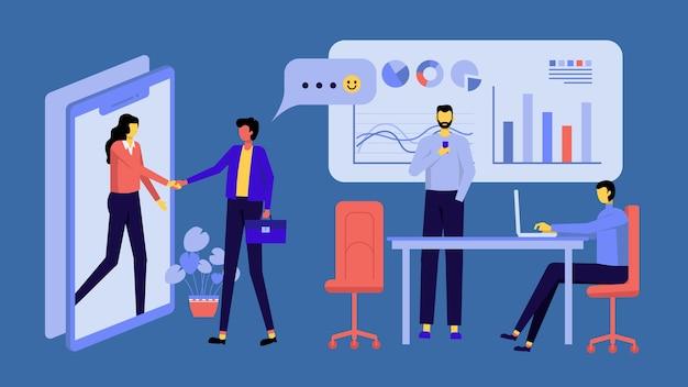 Modern plat ontwerp bedrijfsconcept voor marketing te gebruiken voor webdesign.