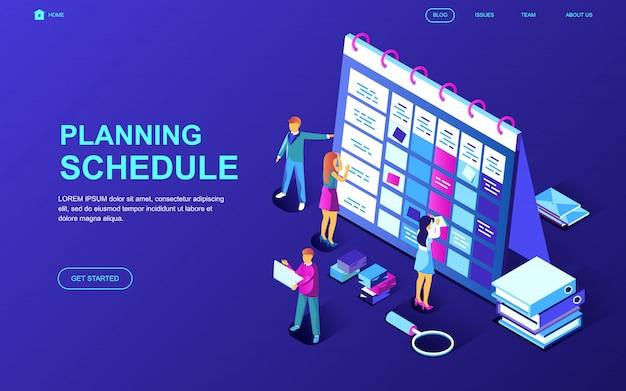 Modern plat ontwerp isometrisch concept planningsschema
