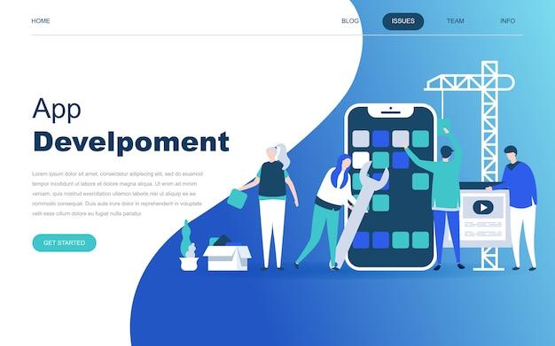 Modern plat ontwerpconcept van app-ontwikkeling