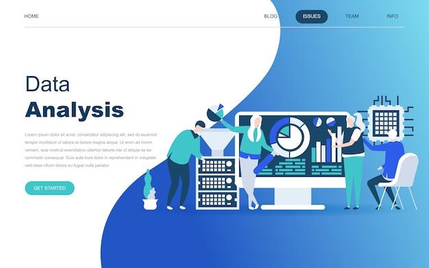Modern plat ontwerpconcept van big data-analyse