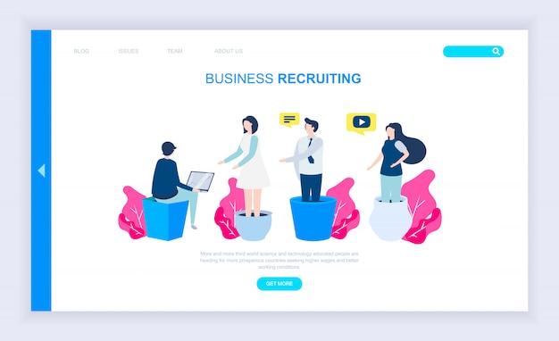 Modern plat ontwerpconcept van business recruiting