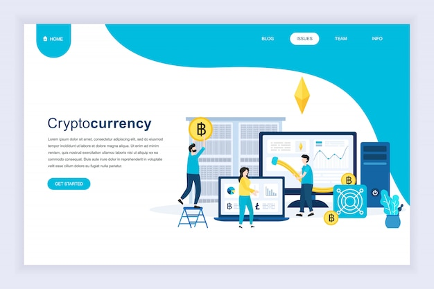 Modern plat ontwerpconcept van cryptocurrency exchange