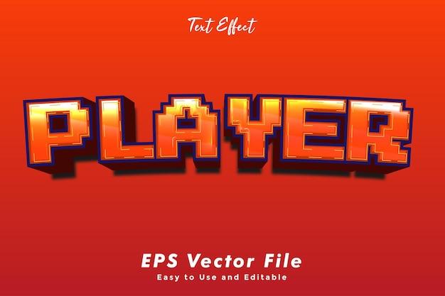 Modern player-teksteffect.