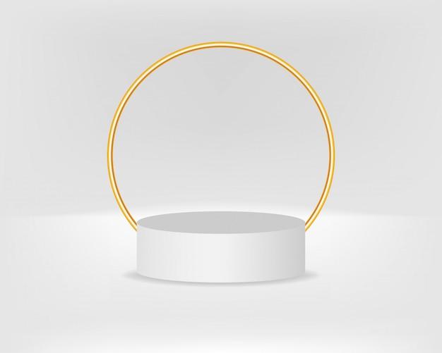 Modern podium voor product met gouden boog