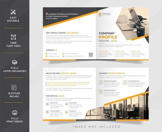 Modern professioneel bedrijfsprofiel en creatief brochureontwerp