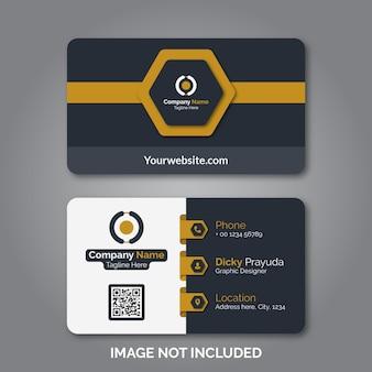 Modern professioneel visitekaartje