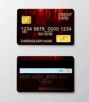 Modern realistisch creditcardbetalingssymbool.