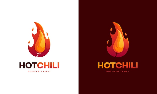 Modern red hot chili-logo.