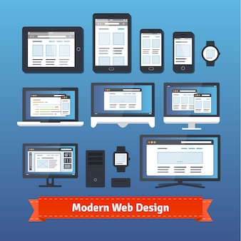 Modern responsief webdesign op alle mobiele apparaten