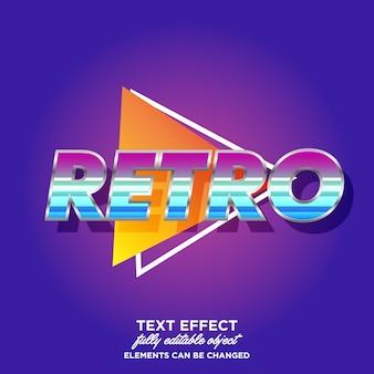 Modern retro-lettertype-effect voor de titel