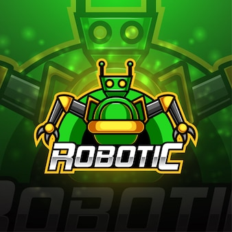Modern robotachtig esport-mascottelogo