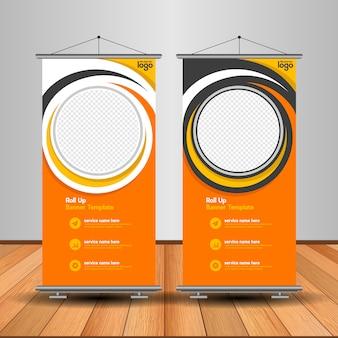 Modern roll-up banner met abstracte vorm